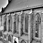 Czarno-biały gotyk z lotu gołębia
