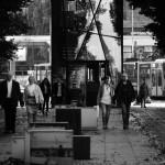 Czarnobiało z placu Żołnierza
